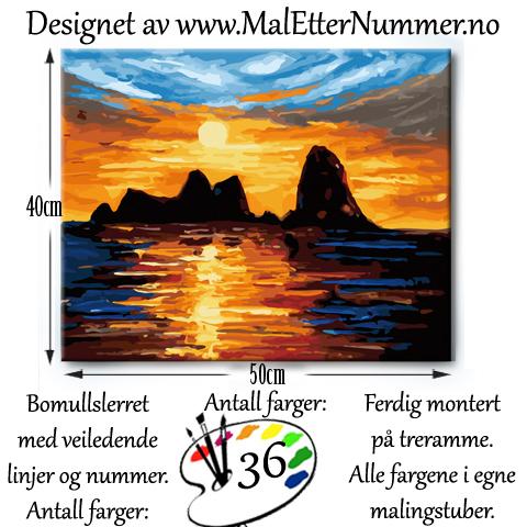 Mal etter nummer - Træna - Paintbynumber - Helgeland - kreativ - mindfulness - hobby