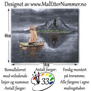 Mal etter nummer - Torghatten - Paintbynumber - Brønnøysund - kreativ - mindfulness - hobby